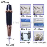 Tattoo Machine PMU Machine pen for learner use colors Blue with R1,R3 Needles Electric Tattoo gun
