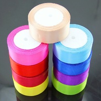 FREE SHIPPING--50 Yards 3.8MM Wide Single Face Satin Ribbon Multicolor wedding DIY Decoration Ribbons (JCO-RB06)