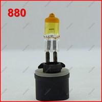 10pcs 880 Halogen Bulb 12V 27W Car Auto Headlight & Fog lamp Yellow Quartz Glass Universal Waterproof ^^KKK