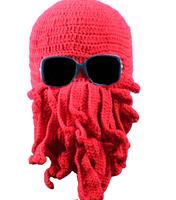 Men fall and winter anti-fog and haze warm warm knit hat hip hop cap octopus
