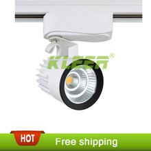 15w pannocchia led led binario stand spot lampada di illuminazione a soffitto binario luce verso il basso faretto lampada vetrina 85-265v(China (Mainland))
