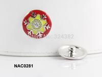 10pcs/lot Newest high quality snowflower cheap snap button fit ginger snap leather bracelet NAC0281