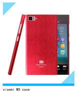 For Xiaomi mi3 m3, High Quality Aluminum Metal Tempered Glass Battery Cover Xiaomi M3 Case For Xiaomi M3 MI3