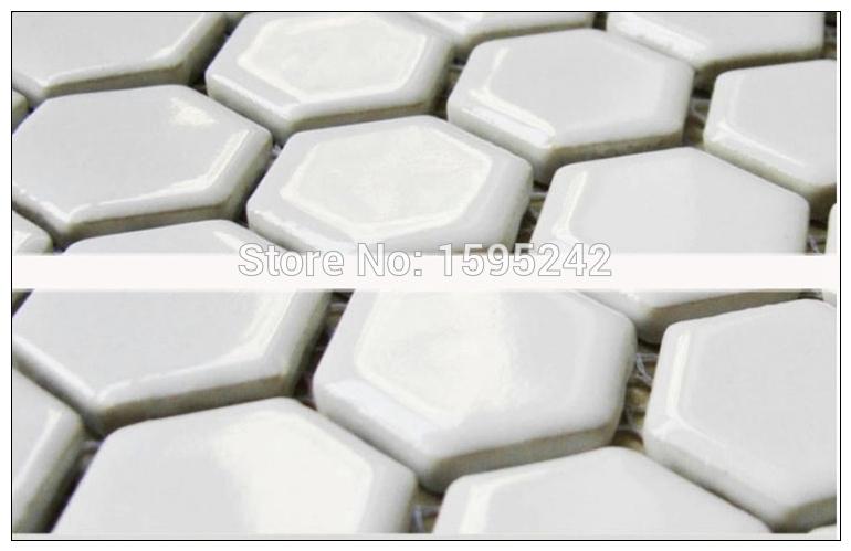 Hexagonal porcelanato mosaico de cerâmica parede definição parede do banheiro da telha de mosaico do mediterrâneo higiênico tijolo telhas de mosaico(China (Mainland))