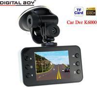 "Car Dvrs Full HD 1080P Cars Dvr 120 Wide Angle 4 x Digital Zoom 2.7"" LED display Car Camera recorder K6000 With Night Vision"