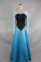 The Little Mermaid Ariel Vanessa Princess Women's Cosplay Custume Dress Blue and Black Custom Made Adult Or Children