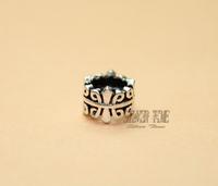925 Thai Sterling Silver spacer beads 7.5mm column dedicated DIY bracelet beads accessories