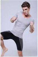 Fashion Body Control Vest Men Black Grey Slimming Body Shaper Underwear Shirt Tops