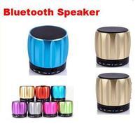 S13 Bluetooth Speaker Super Bass Portable Metal Speaker HiFi Bluetooth Handsfree Wireless Speakers TF Card Speaker Metal 8Colors