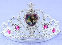 2015 Hot Red rhinestone frozen tiara, Anna princess frozen crown