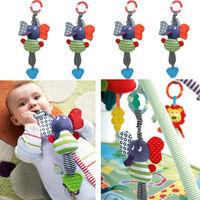 Hot sale! Hang Baby Kids Music Elephant Lathe Dolls Multifunction Educational Toys Teether