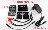Mini HD DVR System 1CH Mini DVR Board D1 Resolution XBOX DVR With Motion Detection CCTV Dvr Black
