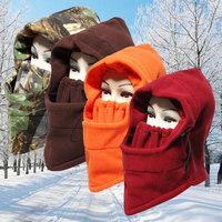 Fashion Neck Balaclava Winter Face Hat Fleece black Hood Ski Mask Warm Helmet