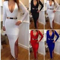New 2015 Sexy Nightclub Bandage Dress Long Prom Dress Plus Size Real Photo Women Summer Dress Sexy Party Evening Vestidos Cheap