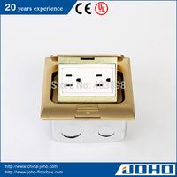 DCT-H28/GBD IP44 Waterproof Brass Slow Pop Up Type Legrand Floor Box Socket