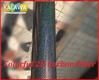 1Roll 1.52X20M Colorful 2D carbon fiber vinyl film with bubble free Black Colorful 2D carbon car sticker free shipping TTT