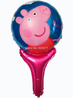 10pcs 35*50cm Lovely Pink Peppa pig 2014 pig Balloons Foil Balloon For Wedding Birthday Party Decorative