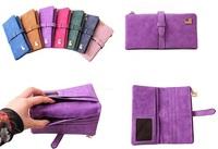 New arrival Fashion Women's Dull Polish Leather Wallet Multifunction Day Clutch Purse Handbags Carteira Feminina free shipping