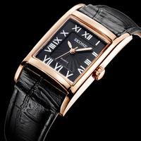 Luxury Brand Skone Rectangle Watch For Women Fashion Leather Quartz Wristwatch Women Dress Watch Relogio Feminino 9107