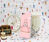 2 pcs Cute Patrick SpongeBob Design for iPhone 5 5s 5G Case Cover Hard Transparent Clear Style