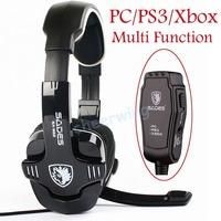 Sades SA-922 Hifi Stereo Pro Gaming Headset Headband Headphone With Mic Multi Funtion For PC/PS3/Xbox
