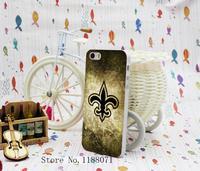 2 pcs New Orleans Saints Vintage Design for iPhone 5 5s 5G Case Cover Hard Transparent Clear Skin