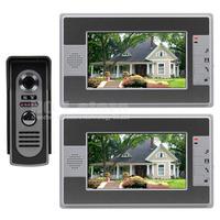 Wired 7 inch Color Video Door Phone Intercom Doorbell Home Security Waterproof IR Night Vision Camera LCD Monitor 812M12