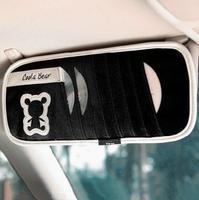 Cartoon Coola Bear Car CD Discs Holder Supplies Cute Creative CD Visor Package CD Pouch Black