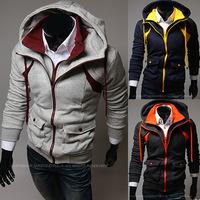 2014 Hot Casual Men's Jacket Baseball Fashion Jackets Hoodies Cardigan Coat Male Outwear Jackets Free Shipping W83021216