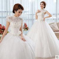 Slim wedding dress autumn lace bride vintage princess wedding dress formal dress