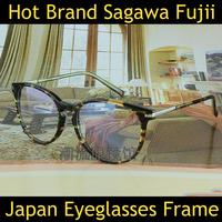 2014 New Designer Women Eyeglasses Frame Japanese Sagawa Fujii Handmade Men Optical Eye Nerd Glasses Frame Reading Prescription
