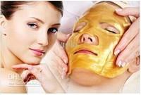 Gold Bio-Collagen Facial Mask Face Mask Crystal Gold Powder Collagen Facial Mask Moisturizing Anti-aging 5/lot