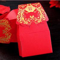 GAGA ! Free shipping Bronzing red hi word wedding paper boxes  200 pcs/lot ,CF32
