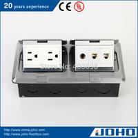 DCT-638/LBD IP44 Waterproof Aluminum Slow Pop Up Type Floor Electric Socket Outlet