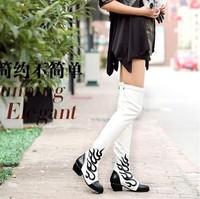 high quality calfskin leather boots side zipper opening anti-slip bottom