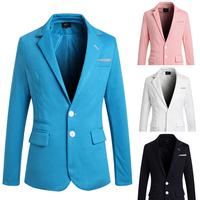 2014 The new multi-pocket design men's suit jacket Slim free shipping