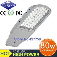 10pcs 3 year warranty free shipping sale AC85-265V IP65 80W led street light 130-140LM/W LED led street light