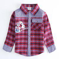 2014 nova brand boy's frozen olaf cartoon clothing kids fashion long sleeve autumn winter plaid shirt A5260Y