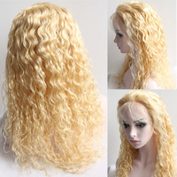 6A Top Quality  #613 Pure Blonde Hair Color Brazilian virgin hair  Body Wave Lace Front Wig Custom Order