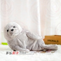 End of a single grey seewind seals sidled doll artificial animal plush toy gift 33cm