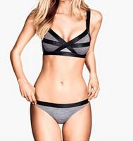 2014 explosion models color tie bikini swimsuit women split swimwear Free Shipping