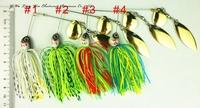 Hot sale 5 pcs 20.5G spinner bait,buzz bait,fishing lure,fishing bait,fishing spoons,rubber jig spinner lure(bait) s10
