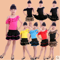 Children Latin Dance Dress New Exercise Clothing Summer Girls Ballroom Dancing Dress Salsa Kids Tutu Performance Apparel WDQ002