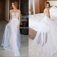 Wedding Dresses 2015 Spring Sweetheart Appliques Beaded Sheath Bridal Gown Fashion Vestido de Noiva