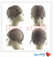 Small/Medium/Large Free Shipping Jewish Base wig caps for making wigs Glueless full lace Wig Caps Adjustable Strap On the Back
