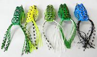 6pcs New Arrival High Quality Fishing Bait 5.5cm 8g soft bait Random colors Carp Fishing Lures Frog Lure Soft Lures S2