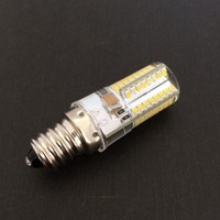 AC 110V/220V Silicone E12 led lamp light 6W led light warm white/white 64LED SMD3014 LED light free shipping DHL