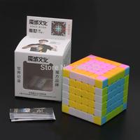 New YJ MoYu Aoshi Black/White/Pink 6 Layer Magic Cube Speed Cube 6.9cm Educational Toys Children Gift Toy