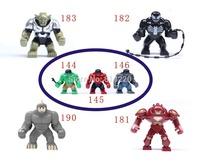 7pcs Big juggernaut Venom Green Hulk VS Hulk Buster Green Goblin Figures Toys Marvel Building Blocks Action Figures Bricks Toys