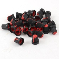 10 Pcs Rotary Control Knobs Caps Covers for 6mm Dia Knurled Shaft Potentiometer